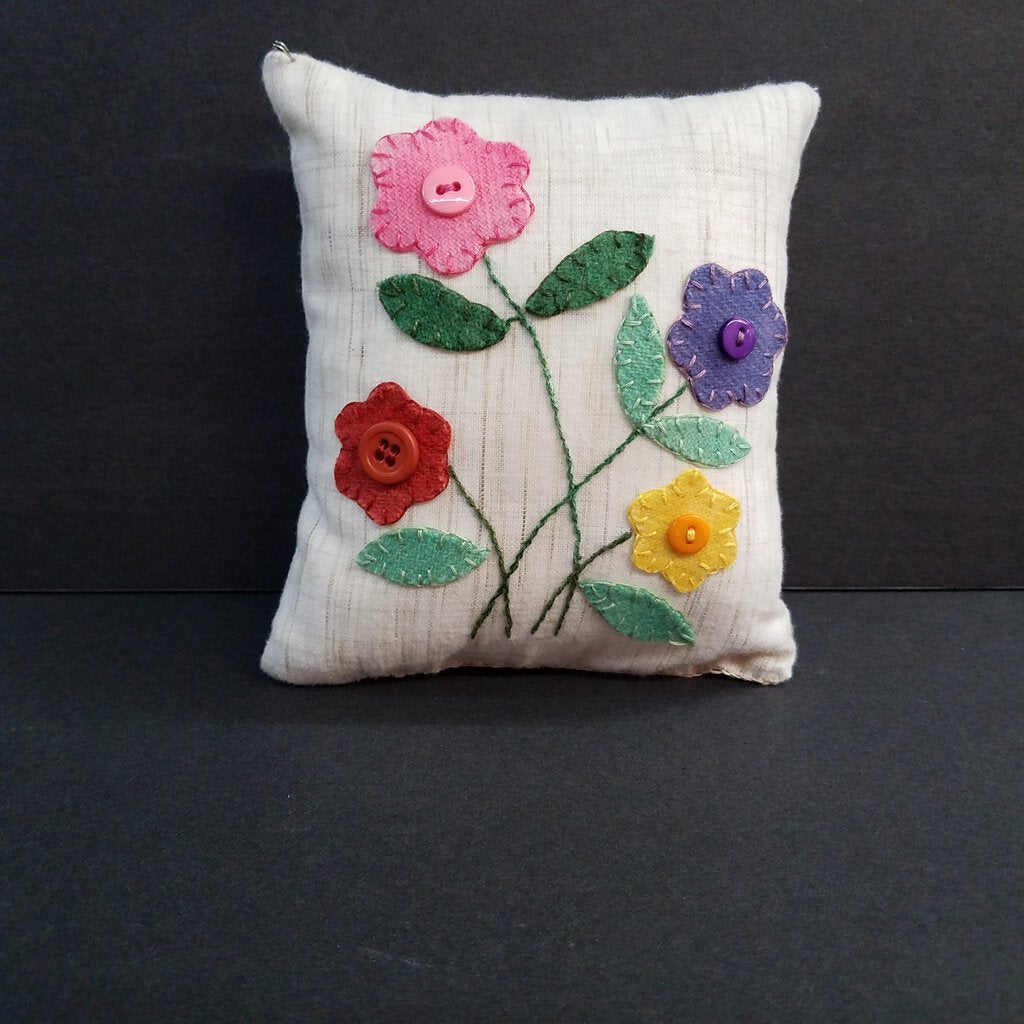 Small little Embroidery Flower Design Pillow