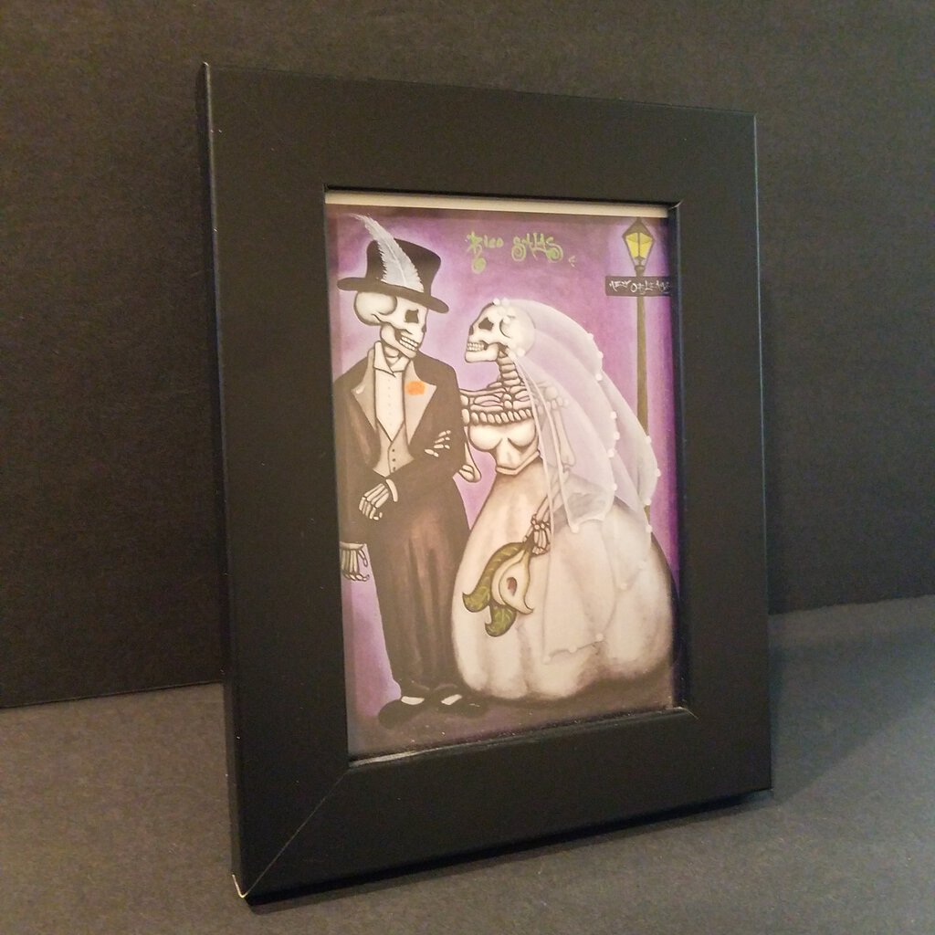 Skeleton Bride & Groom Framed Art