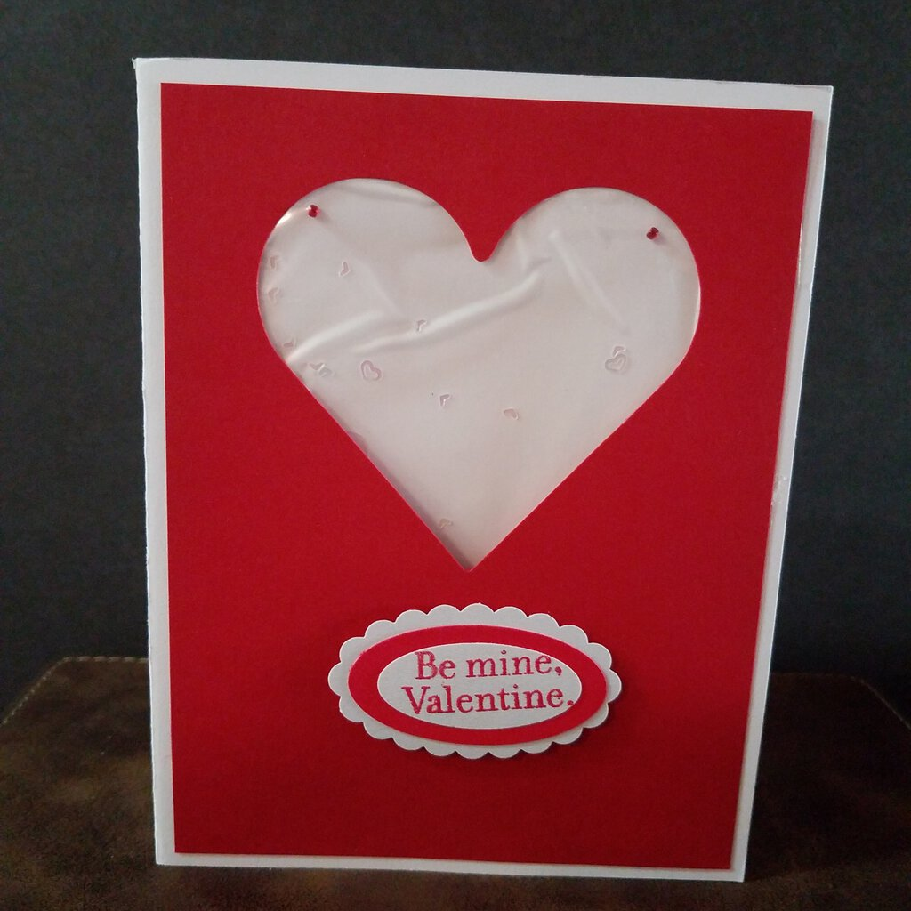 Be Mine, Valentine Heart Shaker Card
