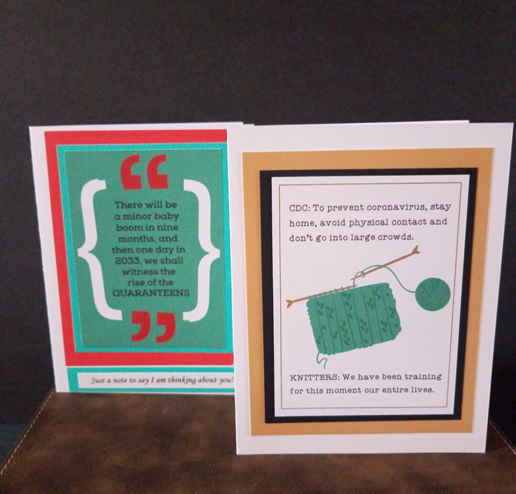 6 pkg Assorted Covid Themed Cards