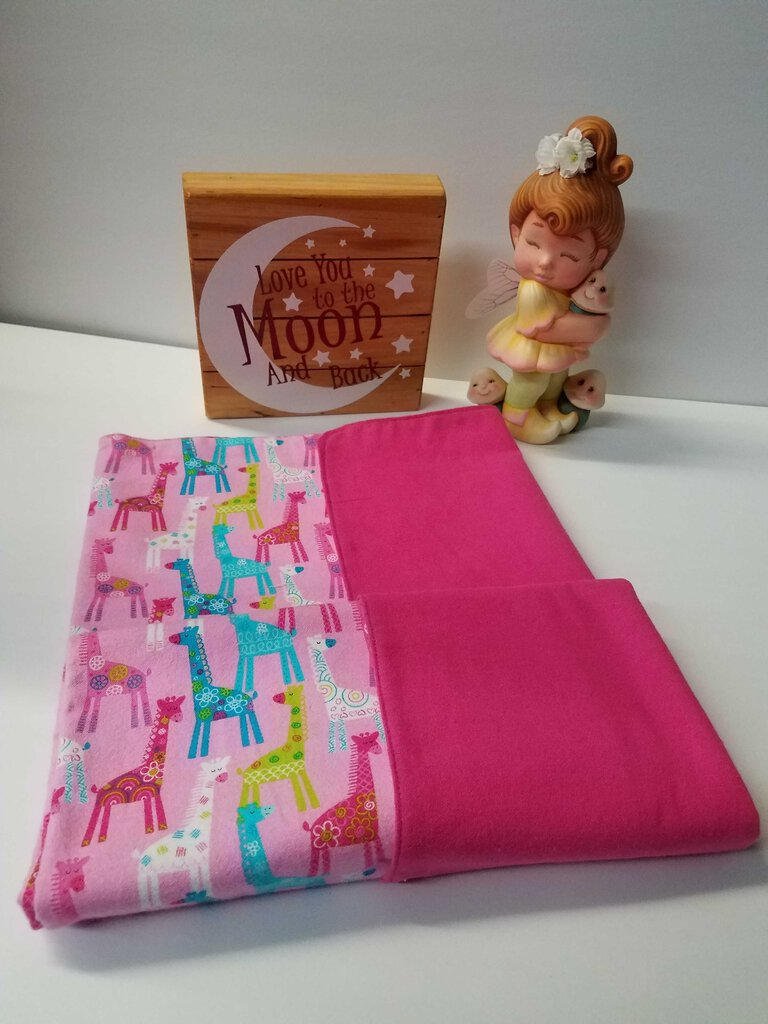 Bright Pink Multi Color Llama Baby Receiving Blanket