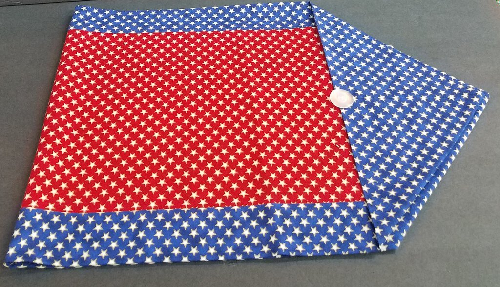 Red,Blue & White Star Table Runner