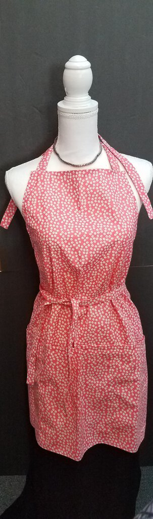 Peach Apron, Double Tie with Lap Pockets