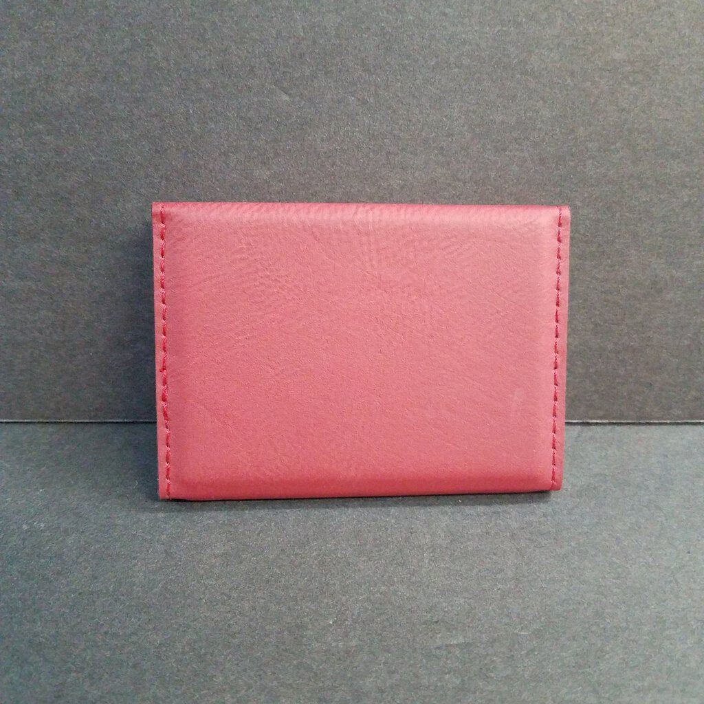 Rose Leatherette Business Card Holder