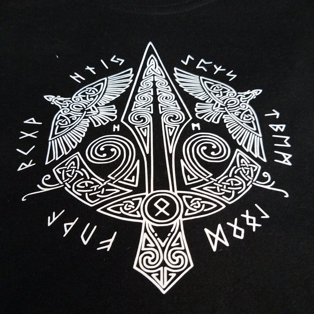 Women's 2x Black Shirt with Odin's Sword Design