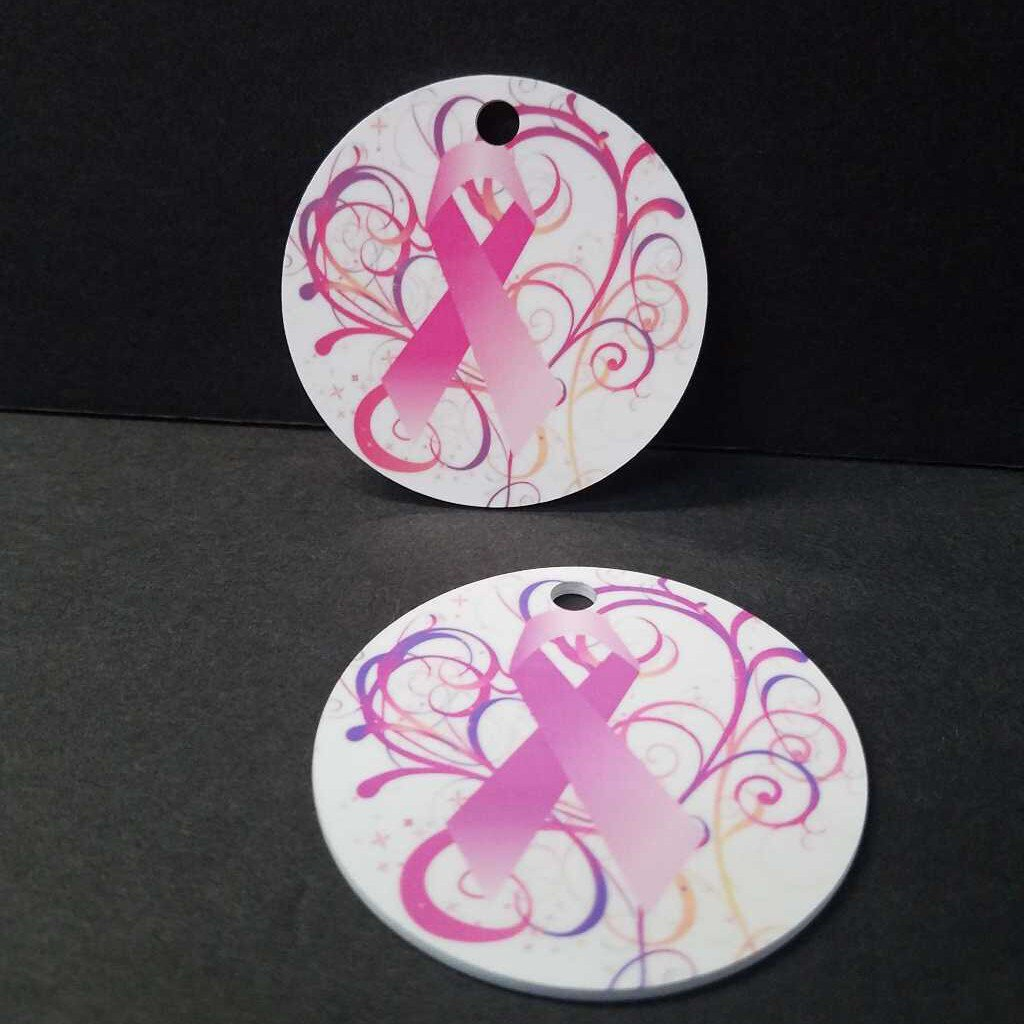 Ribbon in Swirls Key Chain