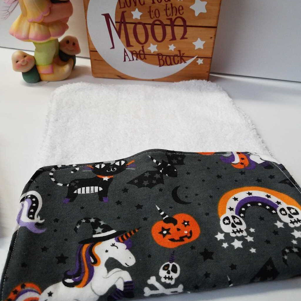 Happy Halloween Fun Baby Burp Cloths