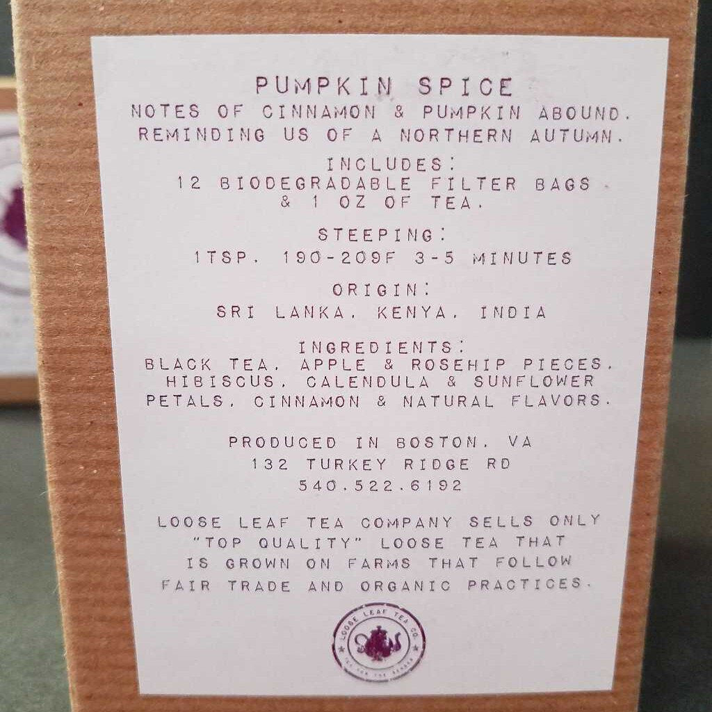Loose Leaf Tea Co. Pumpkin Spice