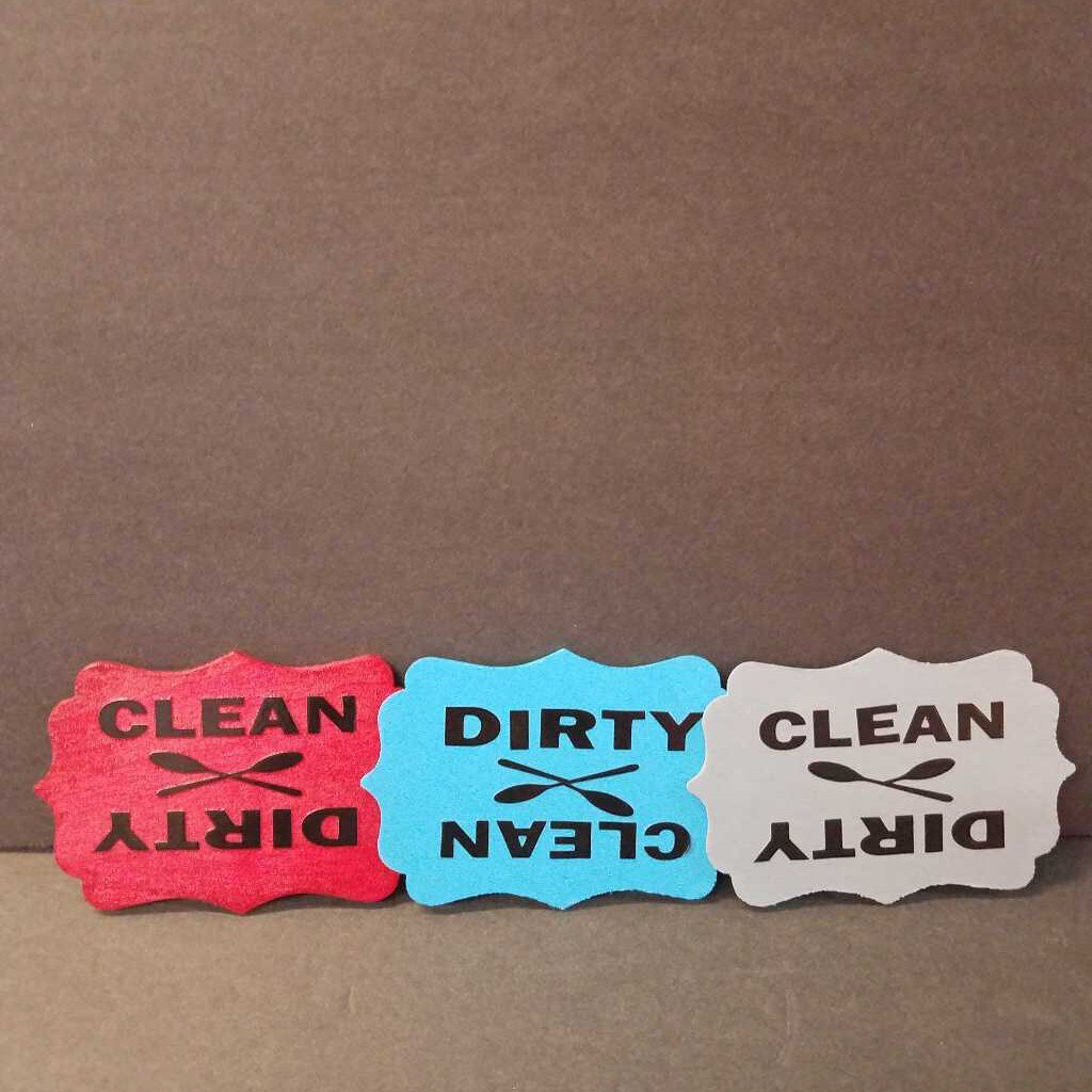 Dirty / Clean Dishwasher Magnets