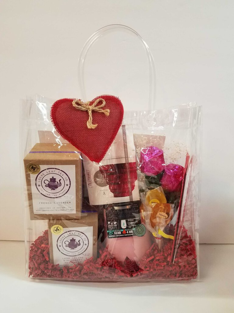 "Tea & Cup Gift Bag ""Valentine's Day"""