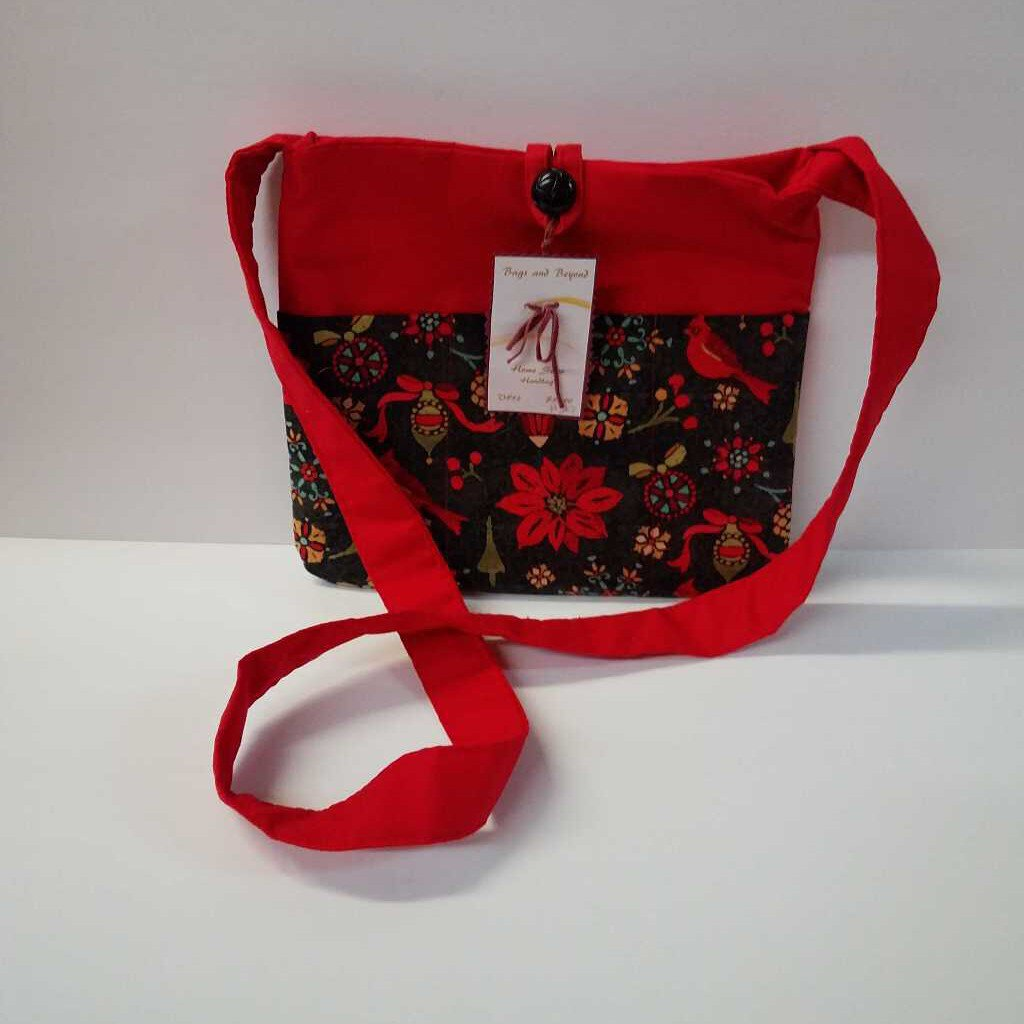 Christmas Holly Medium Crossbody Purse