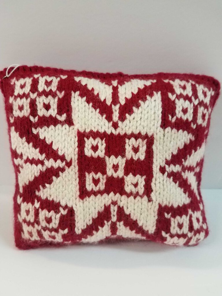"Knitted Mini Pillows ""Snowflakes"""