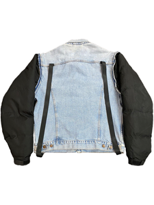 PUFFER-DENIM JACKET