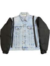 Load image into Gallery viewer, PUFFER-DENIM JACKET