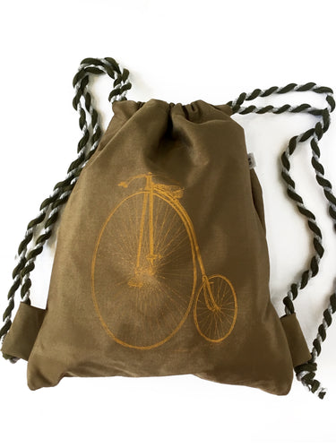 gymbag bag backpack handdruck hand-printed siebdruck screen-pring bike