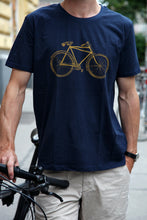 Load image into Gallery viewer, Tshirt biologic cotton handdruck hand-printed siebdruck screen-pring bike