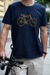 Tshirt biologic cotton handdruck hand-printed siebdruck screen-pring bike