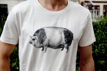 Load image into Gallery viewer, tshirt cotton woodcarving screenprinting HQ pig schwein