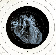Load image into Gallery viewer, heart human-body anatomy medicine illustration vintage siebdruck screen-print HQ 1800s