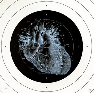 heart human-body anatomy medicine illustration vintage siebdruck screen-print HQ 1800s