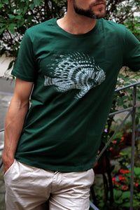 tshirt fish zoology marine biology 1800s woodcarving screen-print siebdruck handdruck