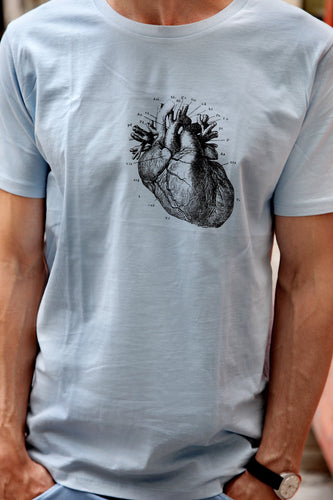 tshirt heart human-body anatomy medicine illustration vintage siebdruck screen-print HQ 1800s