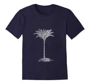 Palm botanic woodcarving 1800s siebdruck screen-print handdruck tshirt