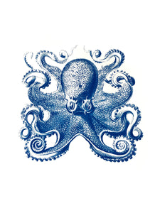 krake octopus zoology marine biology 1800s woodcarving screen-print siebdruck handdruck