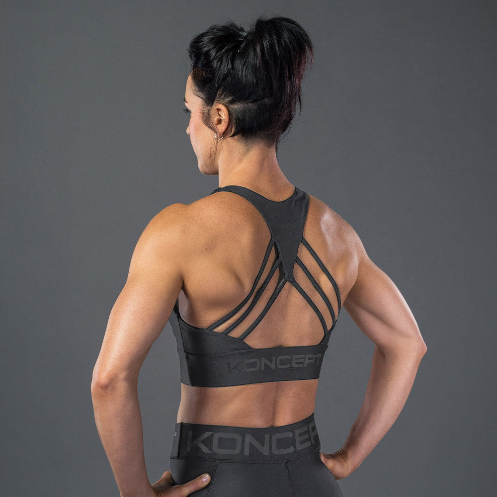 The Octane Sports Bra - Iron - Koncept Fitwear
