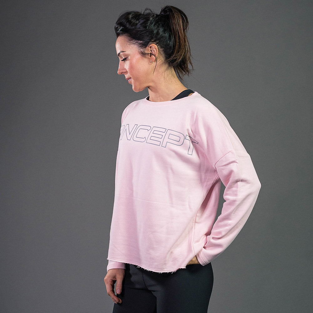 Oversized sweatshirt in pink