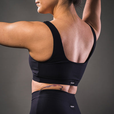The Ribbed Sports Bra - Black - Koncept Fitwear