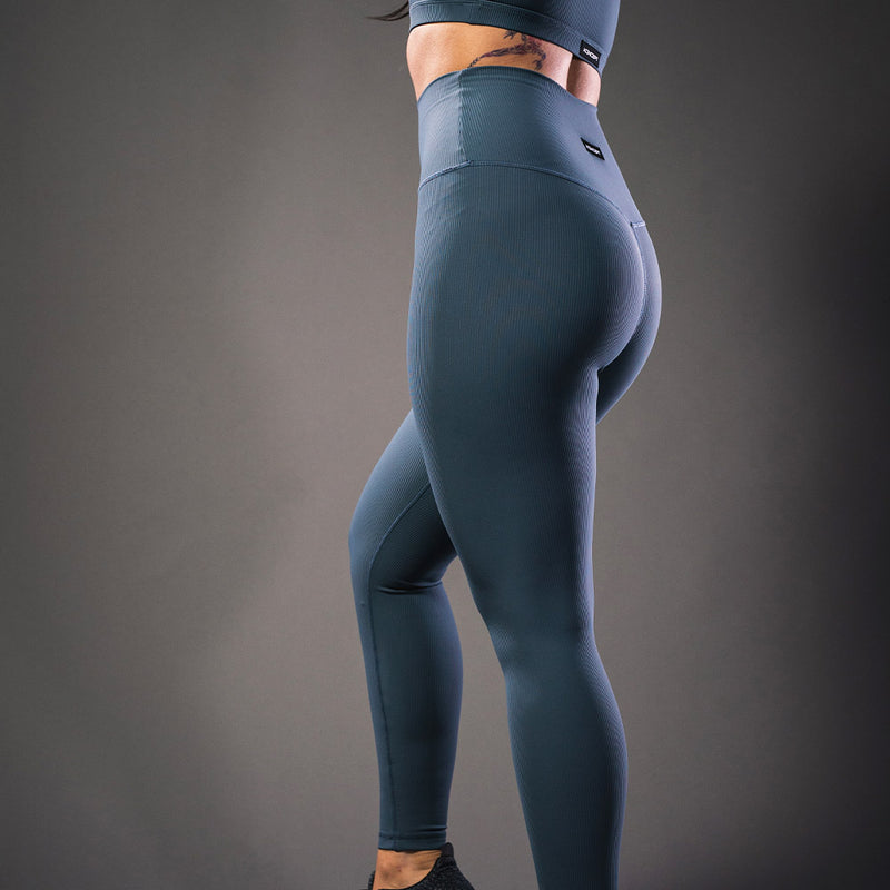 The Ribbed Leggings - Steel - Koncept Fitwear