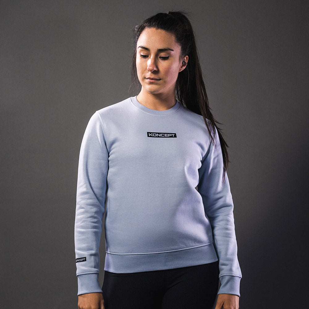 The Aurora Crewneck Sweatshirt - Powder Blue - Koncept Fitwear