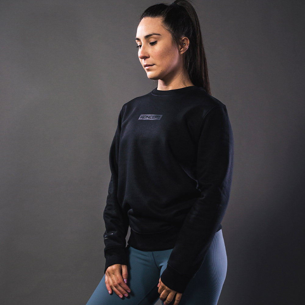 The Aurora Crewneck Sweatshirt - Black - Koncept Fitwear