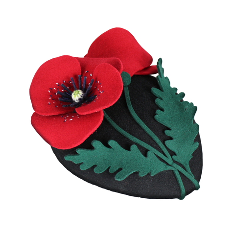 Handmade Angharad Rose Poppy Fascinator