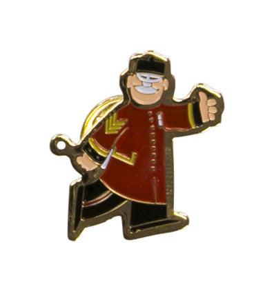 Cartoon Chelsea Pensioner Lapel Pin Badge