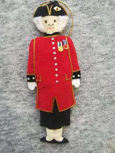 Female Chelsea Pensioner with skirt - Hanging Decoration