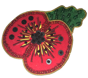 Poppy Brooch with leaf