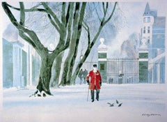 Pensioner in the Snow, Christmas Cards, Pack of Ten