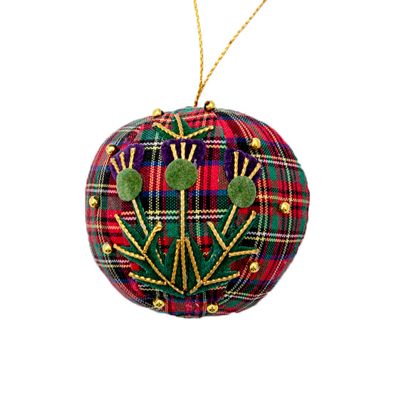 Tartan Thistle Plum Pudding - Hanging Decoration