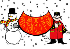 'Let It Snow',  pack of ten Christmas Cards