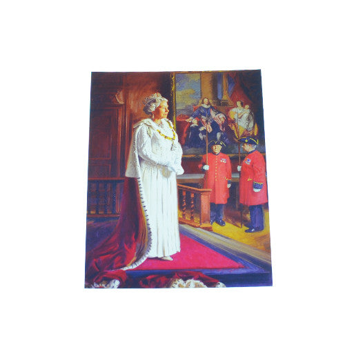 The Queen and Chelsea Pensioners Postcard