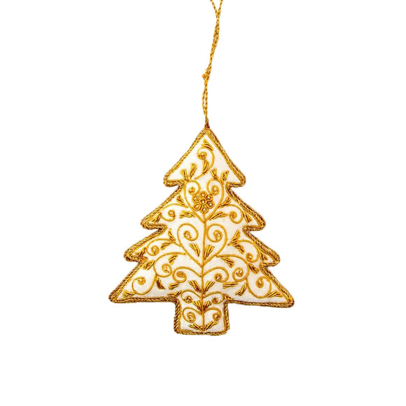 White Christmas Tree - Hanging Decoration
