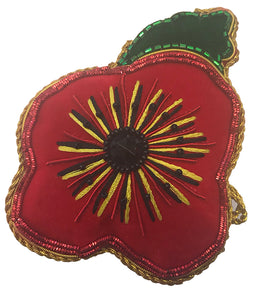 Poppy Decoration with green leaf