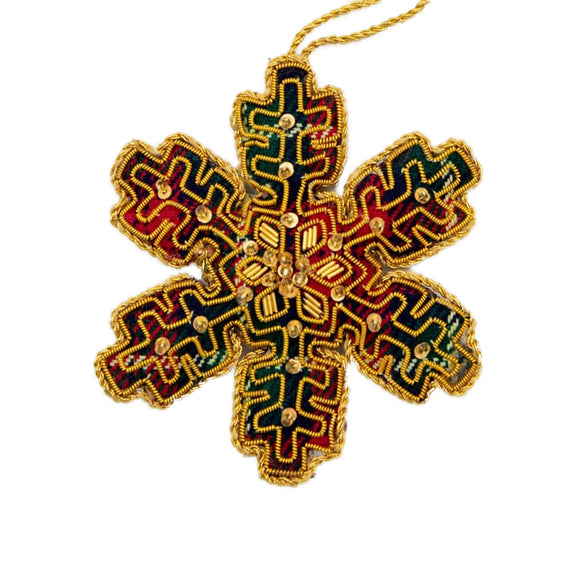 Tartan Snowflake - Hanging Decoration