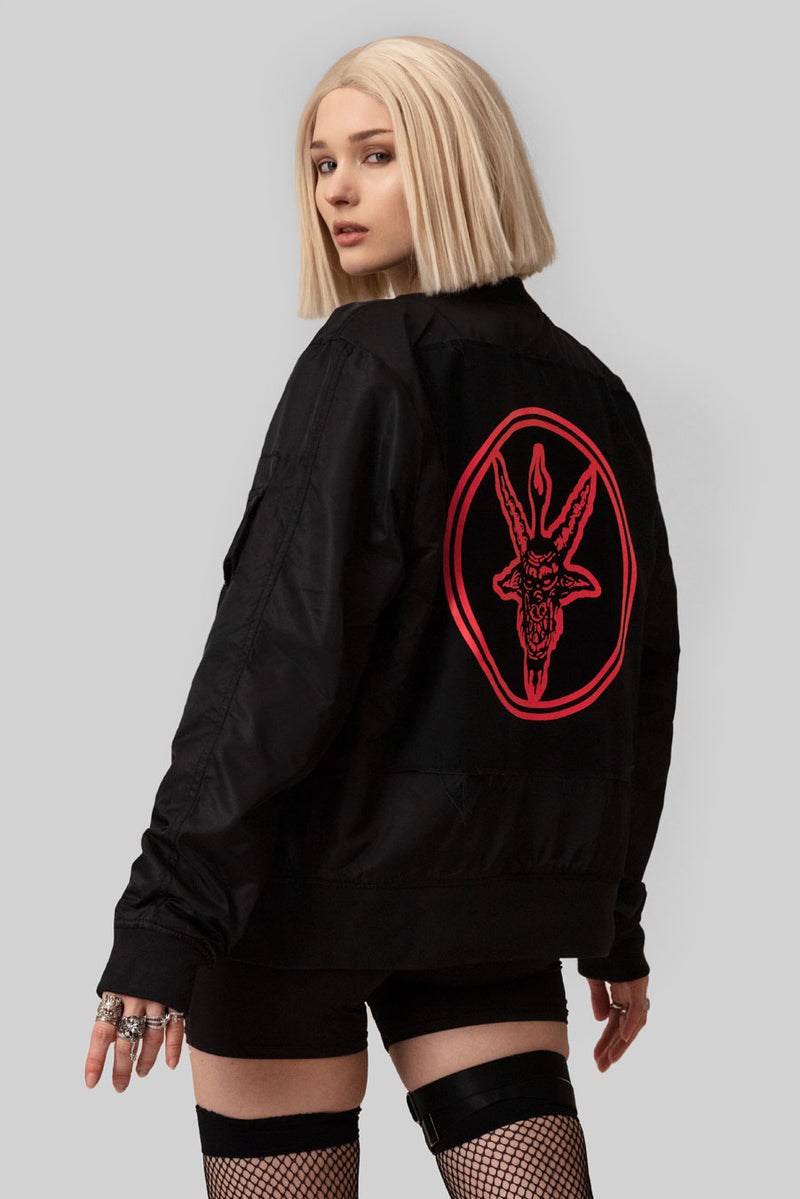 Baphomet (Red) MA1 Patch Jacket