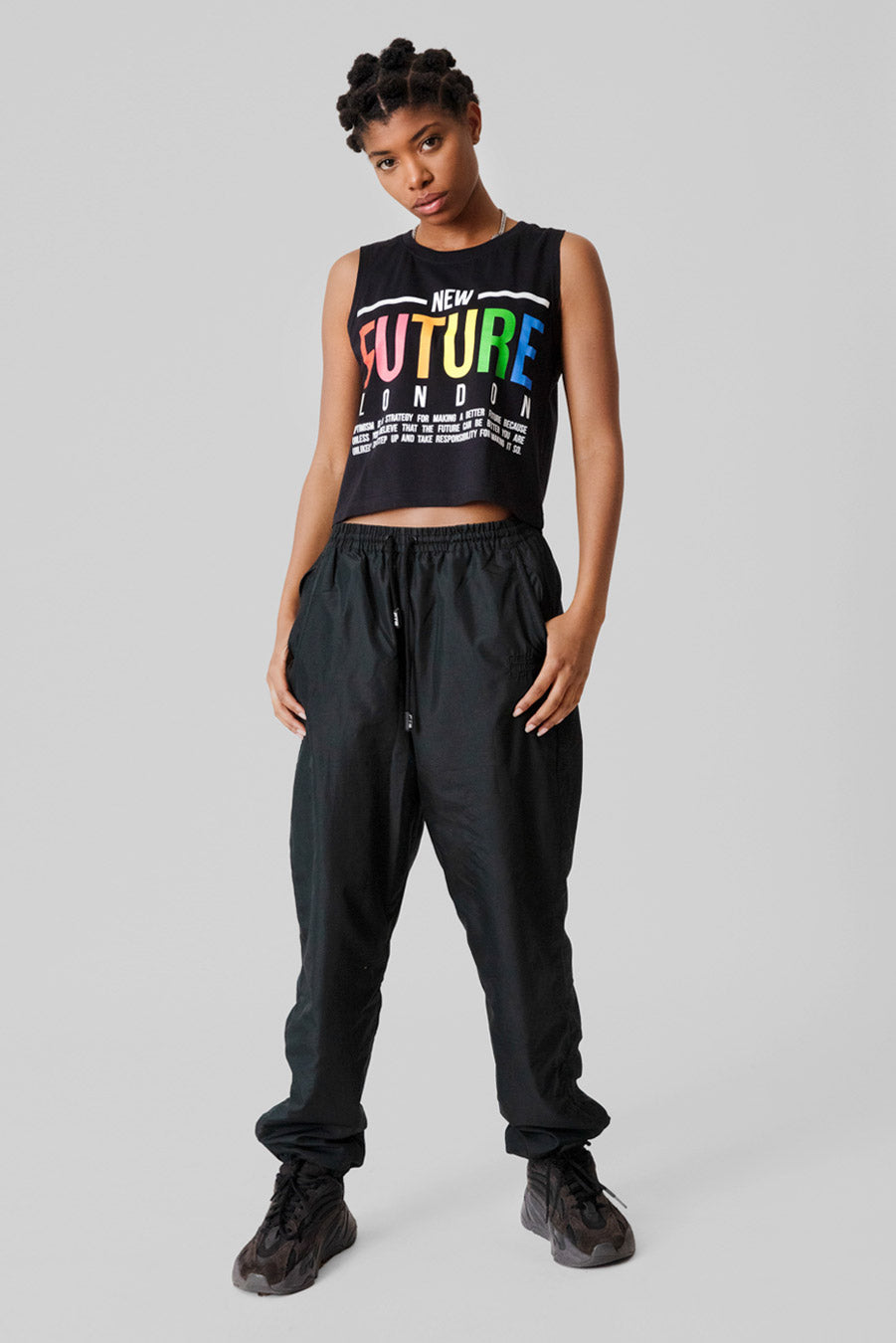 BELIEVE Crop Top (Black)