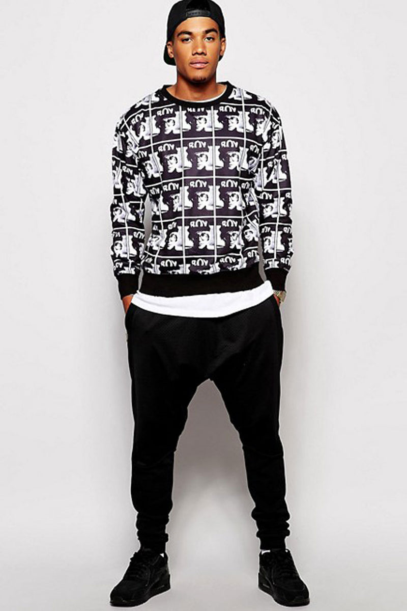 Boy Photo Print Sweat
