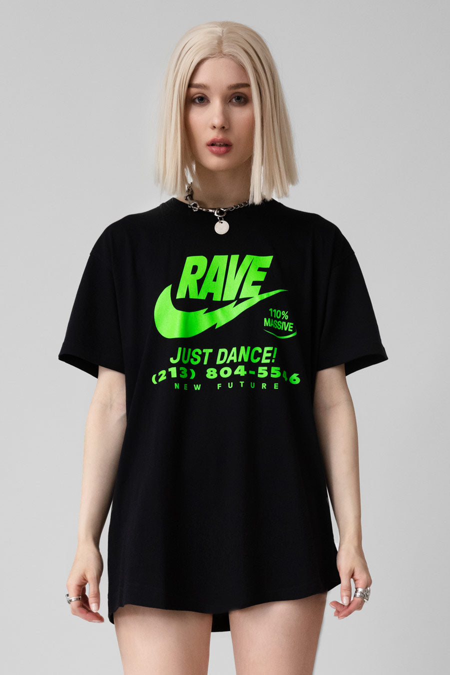 ILLEGAL RAVE (Green) -Tshirt