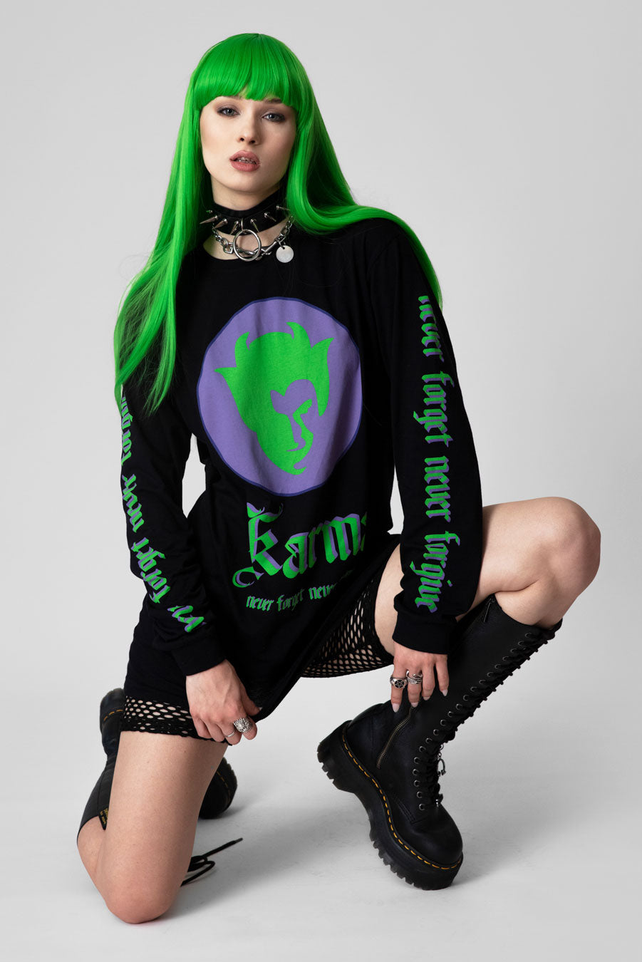Karma - Long Sleeve (Green/Purple)